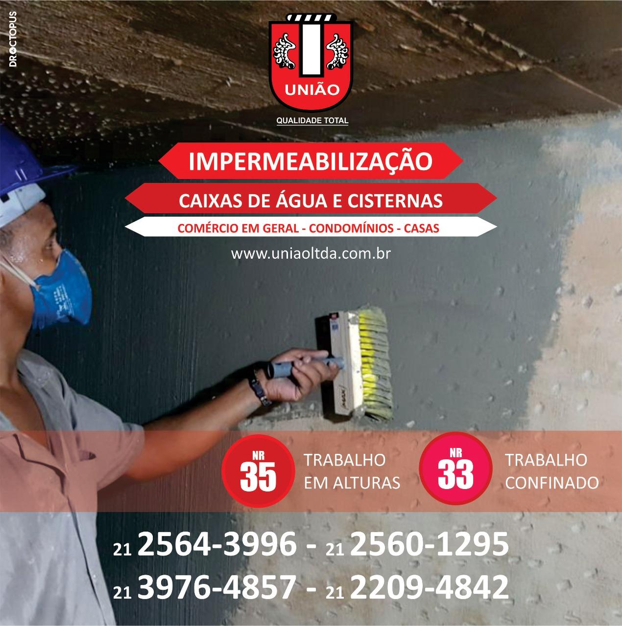 Impermeabilização de caixas d'água e cisternas no Rio de Janeiro