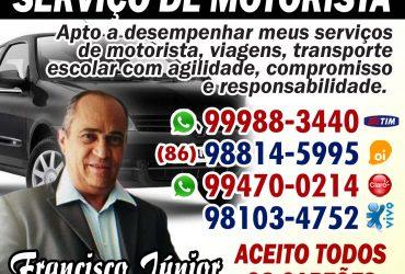 FRANCISCO JUNIOR-SERVIÇO DE MOTORISTA