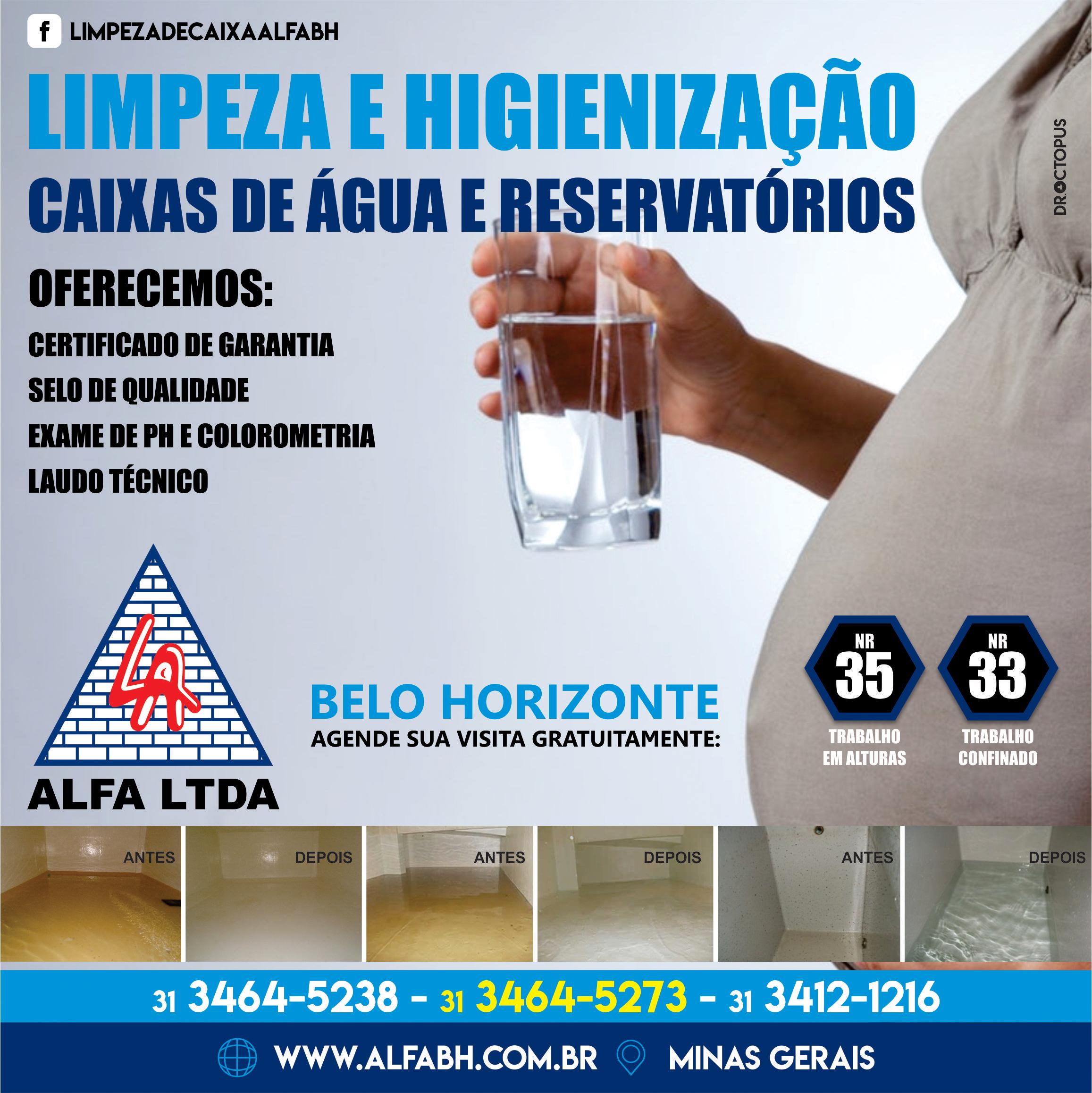 Limpeza e Higienização de Caixas de Água e Reservatorio