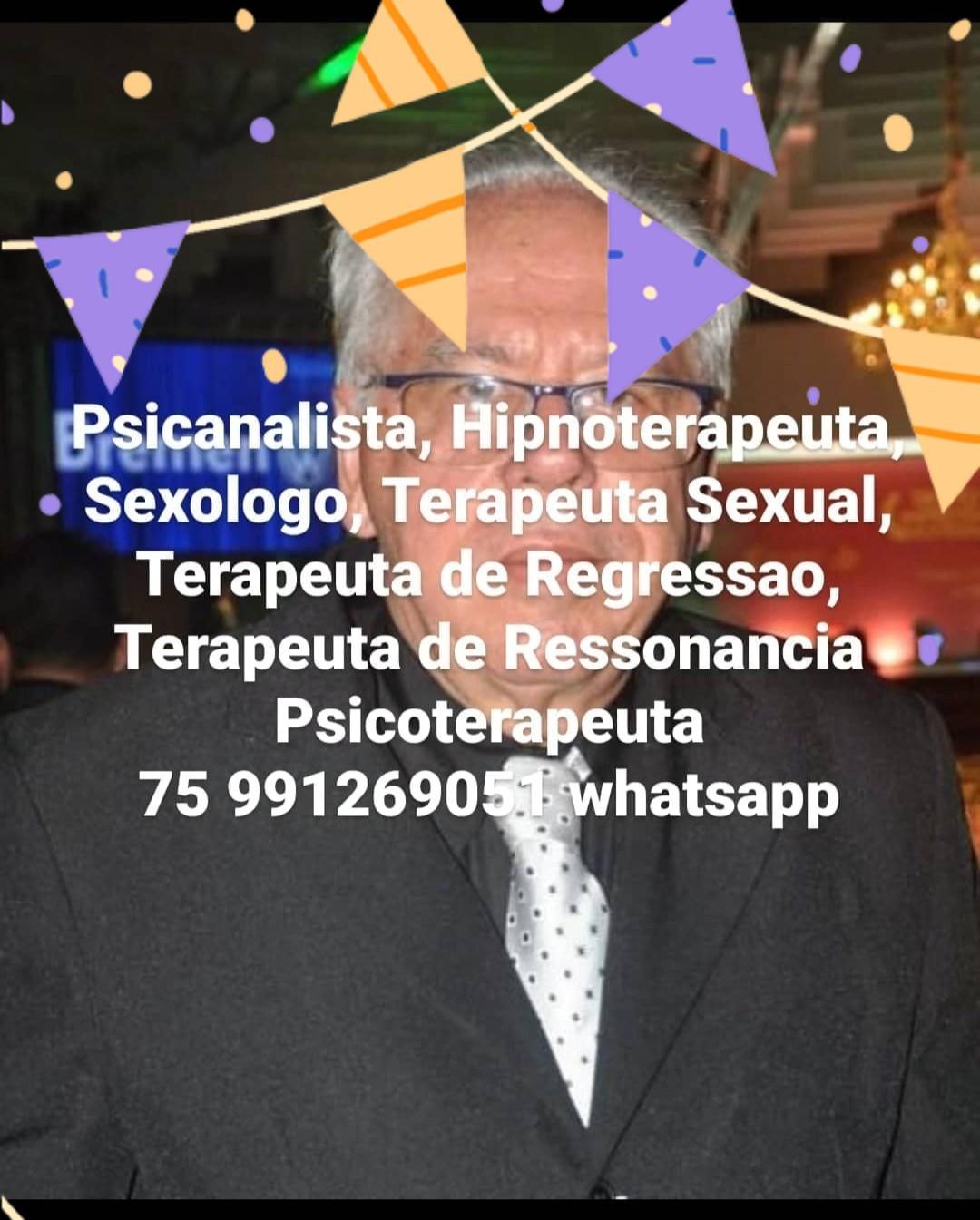 TERAPEUTA DE REGRESSÃO CARLOS SAMPAIO PACHECO FEIRA DE SANTANA BA 75 991269051 whatsapp