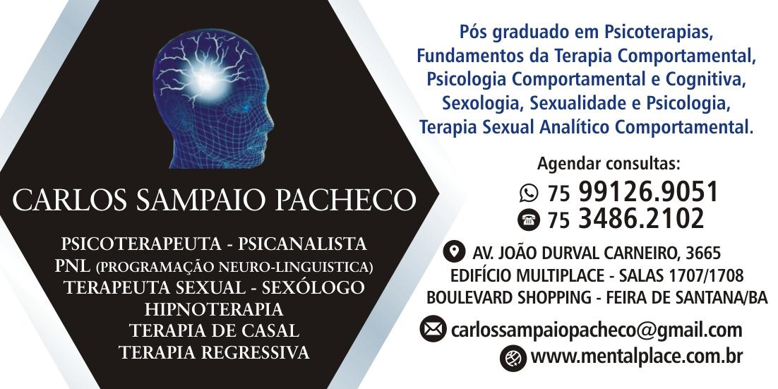 SEXÓLOGO CARLOS SAMPAIO PACHECO FEIRA DE SANTANA 75 991269051 whatsapp