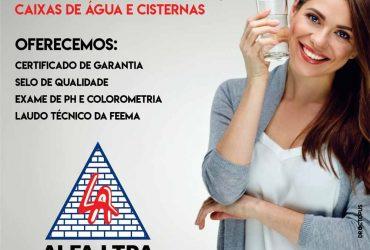 ALFA limpadora de caixas d'água, cisternas